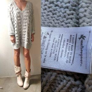 One Teaspoon Ash nubby varsity sweater dress 4/6